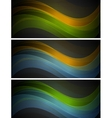 Bright wavy banners vector image vector image