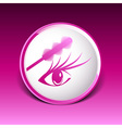 brushes mascara and mascara brush makeup eye vector image vector image