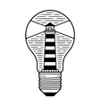 bulb in lighthouse vector image