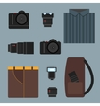 Camera set vector image vector image