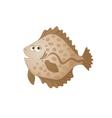 cartoon flatfish vector image vector image