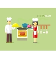 Chefs Team People Group Flat Style vector image vector image