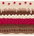Cherry cake seamless pattern vector image vector image