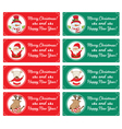Christmas characters and labels words Merry vector image