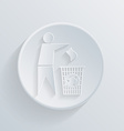 circle icon with a shadow do not litter vector image