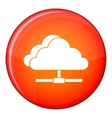 Cloud computing connection icon flat style vector image