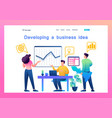 creating and developing a business idea vector image