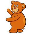 cute teddy bear cartoon character vector image vector image