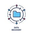 data recovery - modern line design single vector image
