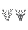 deer line and glyph icon animal and zoo vector image vector image