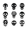 dia de los muertos mexican sugar skulls set vector image