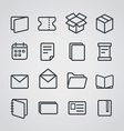 Different paper stuff icons collection vector image