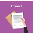 divorce concept a business man hand vector image