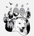 double exposure for your design wildlife concept vector image vector image