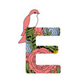 e font letter vector image vector image