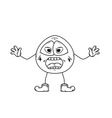 emoticon shout sketch vector image vector image