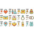 family line icon set vector image vector image