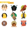 Farm animals avatars vector image vector image