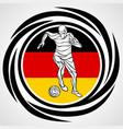 football player kicks ball in german flag vector image