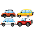 Four cars with different styles vector image