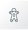 gingerbread man icon line symbol premium quality vector image