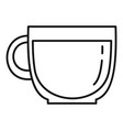 glass coffee cup icon outline style vector image vector image