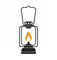 Glowing Camping Lantern vector image vector image