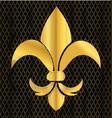 gold emblem flower vector image vector image