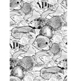 Graphic aquarium fish pattern vector image