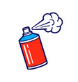 icon of spray paint can vector image vector image