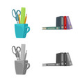 isolated object of furniture and work symbol vector image