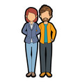 isolated young couple vector image