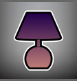 lamp sign violet gradient vector image