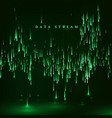 matrix green color background in a style vector image vector image
