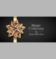 minimalistic christmas banner design template vector image vector image