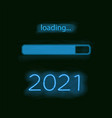 neon progress bar new year vector image vector image