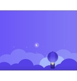 Night Background with Clouds Balloon and Moon vector image