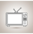 old tv design vector image vector image
