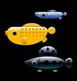 Ornamental aquarium fishes vector image