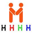 persons handshake icon vector image vector image