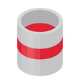 red paint bucket icon isometric style vector image