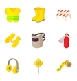 Road repair icons set cartoon style vector image vector image