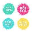 sale 50 best choice special offer promo stickers vector image vector image