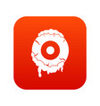 scary eyeball icon digital red vector image vector image