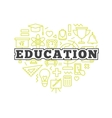 school design concept Line style education vector image