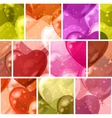 Seamless background with balloon hearts vector image vector image