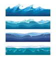 Seamless ocean sea water waves vector image vector image
