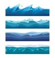 Seamless ocean sea water waves vector image