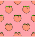 seamless pattern with pink peaches and leaves vector image vector image