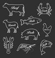 set icons animals vector image